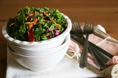 Kale Salad with Creamy Lemon Tahini Dressing & Toasted Seeds Ingredients 1 big kale leaf ½ cup shredded red cabbage ½ big carrot, grated ½ red pepper, thinly sliced 1 TBSP sesame seeds 1 TBSP tahini 1 ...