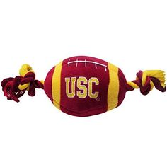 Pets First Collegiate USC Trojans University of Southern California Plush Rope Football Dog Toy * Check out this great product.