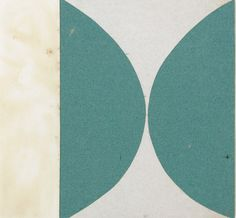 Ellsworth Kelly, Green Curves, 1951, ink on paper and gouache on paper, 7 1/2 x 8 in. From the collection of MoMA.
