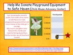 Buy a product from either of my stores, and I will donate the money to Safe Haven Child Advocacy Center