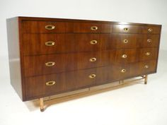 Vintage 50's Mid Century Modern Dresser by Bert England Johnson Furniture Co2400