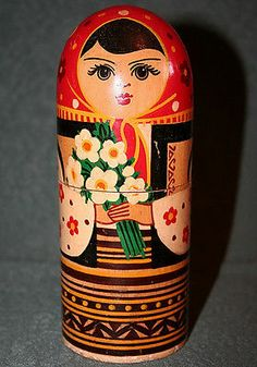 1960s Vtg Ukrainian Matryoshka Hutsul Wood Nesting Doll Pencil Box Ukraine USSR | eBay