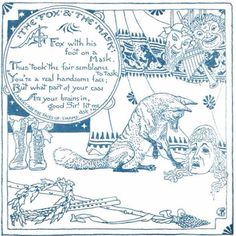 The Fox & The Mask from The Baby's Own Aesop by Walter Crane