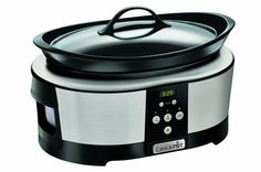 Slow Cooker 5.7 L Pot Bowl w/ Digital Timer Kitchen Appliances Food Cooking