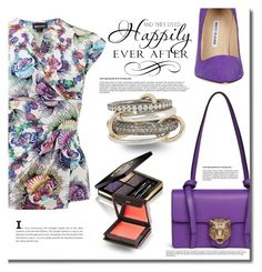 """""""Happily ever after"""" by mslewis6 ❤ liked on Polyvore featuring Gucci, Just Cavalli, Jouer, Manolo Blahnik and SPINELLI KILCOLLIN"""