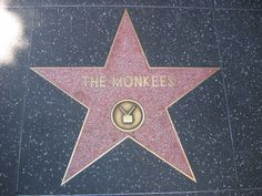 The Monkees star on the Hollywood Walk of Fame is on the north side of the 6600 block of Hollywood Boulevard. Hollywood Star Walk, Hollywood Boulevard, Great Bands, Cool Bands, The Monkees, Davy Jones Monkees, Mickey Dolenz, Michael Nesmith, My Only Love