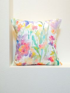 Throw pillows, Pillows and Watercolors