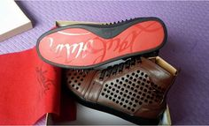 with dust bag&box, high quality christian louboutin  flats red bottom rivets men women  sneakers 36-46. Want detail pictures,more styles and brands? please contact me.