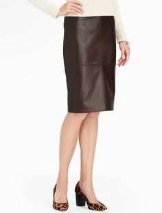 Talbots - Leather Pencil Skirt | New Arrivals |