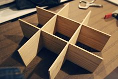 IHeart Organizing: How to Make DIY Drawer Dividers (use foam board instead of wood)