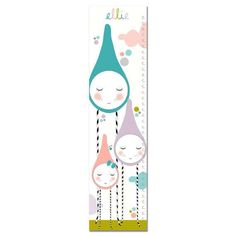 Raindrop Family Growth Chart  Canvas Growth Chart by KZukowski
