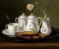 George Forster - Still Life of Porcelain and Biscuits - art prints and posters