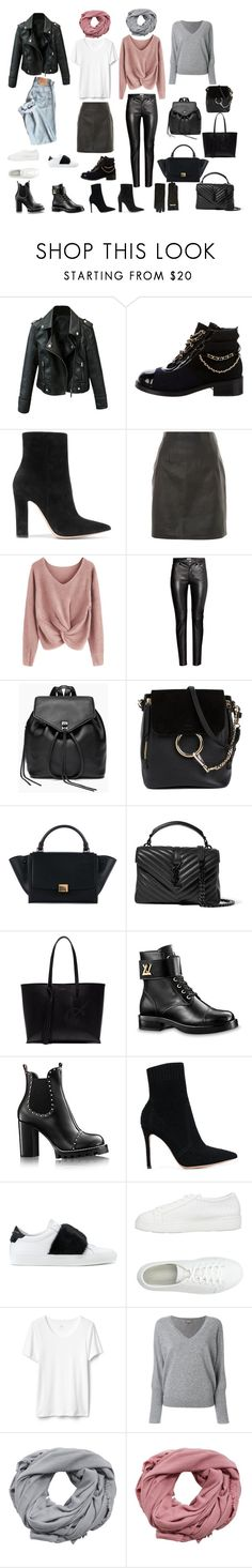 Jeka by floversss on Polyvore featuring мода, N.Peal, Topshop, Gianvito Rossi, Givenchy, Chanel, Santoni, Louis Vuitton, Yves Saint Laurent and CÉLINE