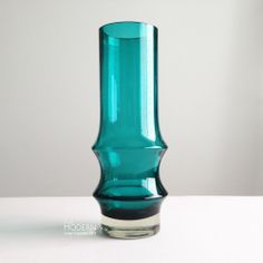 Riihimaki Finland Reimari 1465 Aqua Green Vase by Tamara Aladin