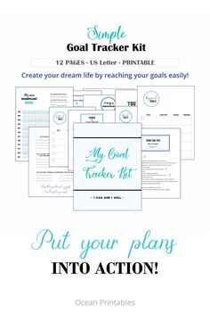 printable goal tracker that will help you get on track and be more disciplined and organized