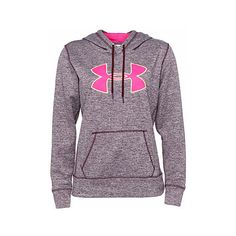 Under Armour Big Logo sweatshirt ($53) ❤ liked on Polyvore featuring under armour