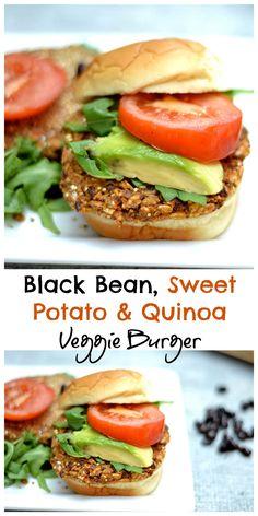 Meatless burger that even a meat lover will enjoy! GF, vegan. Tasty Vegetarian Recipes, Good Healthy Recipes, Easy Healthy Recipes, Vegetarian Dish, Vegetarian Dinners, Top Recipes, Vegan Dishes, Vegan Food, Healthy Food
