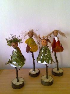 * Herfst-poppetjes! Autumn Crafts, Autumn Art, Nature Crafts, Autumn Leaves, Christmas Crafts, Art For Kids, Crafts For Kids, Arts And Crafts, Autumn Activities