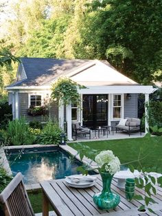 1000 images about converted garage on pinterest garage for Detached garage pool house