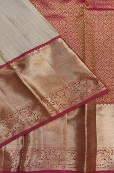 Buy online Pastel Handloom Kanjeevaram Pure Silk Saree With Big Border Kanjivaram Sarees Silk, Khadi Saree, Kanchipuram Saree, Pure Silk Sarees, Indian Bridal Sarees, Wedding Sarees, Cotton Saree Designs, Blouse Designs, Saree Color Combinations