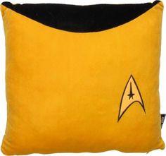 Star Trek Throw Pillow Captain Kirk Uniform for sale online Gold Throw Pillows, Cute Pillows, Accent Pillows, Gold Home Accessories, Star Trek Collectibles, Star Trek Original Series, Gold Home Decor, Geek Gadgets, Selling On Pinterest
