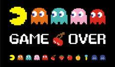 Risultati immagini per game over pacman vector Retro Video Games, Video Game Art, Retro Games, Festa Do Pac Man, Vector Game, 8bit Art, Donia, Minecraft Pixel Art, Gaming Wallpapers