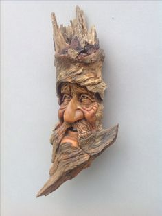 Wood Spirit Carving by Stephen Kincart