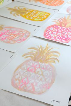 Pineapple Art - MadeByGirl: Cocoa & Hearts