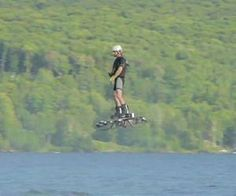Canadian inventor's hoverboard flight sets record 905 feet stable flight achieved with a machine you can stand on and control with your feet
