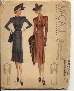 1930s McCall day dress pattern