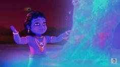 Bal Krishna, Shree Krishna, Radhe Krishna, Lord Krishna, Little Krishna, Krishna Painting, Blue Balloons, Krishna Wallpaper, Bhagavad Gita