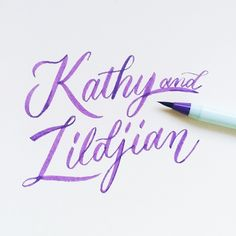 For Kathy & Zj  #calligrafikas #grafikas #dreweuropeo #brushpen #watercolorbrush #brushlettering #moderncalligraphy #lettering #handlettering #handmade #script #handwriting #typeveryday #thedailytype #typedaily #type #goodtype #handstrokes #handrawn #random #words #phrases #practice