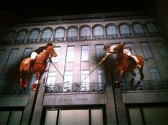Ralph Lauren 3D light projection