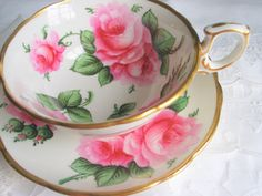 Antique Soane and Smith Teacup and Saucer, China Cup and Saucer, English Tea Set, Tea Cup, Roses Tea Cups, Vintage Teacups, Hand Painted Cup