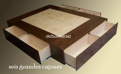 Base Cama Minimalista Recamara Colchon Cajones Departamentos - $ 6,500.00 en MercadoLibre Minimalist Bed, Minimalist Home Decor, Minimalist Interior, Furniture Decor, Furniture Design, Do It Yourself Furniture, Home Decor Bedroom, Bedroom Ideas, Master Bedroom
