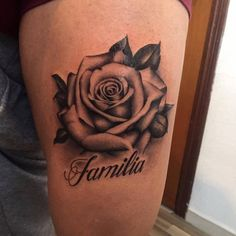 Rose tattoo by Cristian! Limited availability at Revival Tattoo Studio. Henna Tattoo Hand, Name Tattoo On Hand, Hand Tattoos, Rose Tattoo With Name, Body Art Tattoos, Sleeve Tattoos, Names Tattoos For Men, Rose Tattoos For Men, Wrist Tattoos For Guys