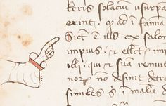 Manicule,  Isadore of Seville, Sententiae, Lawrence, University of Kansas, Kenneth Spencer Research Library, MS C54, fol. 96v