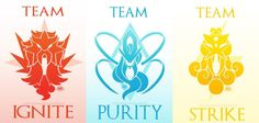 Teams Ignite, Purity, and Strike by Seoxys6 on DeviantArt