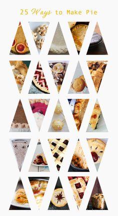 25 ways to make a pie - A Subtle Revelry