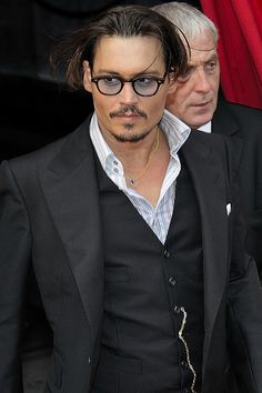 Johnny Depp, the only man who looks good with moustache