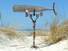 reclaimed parts whale weathervane By The Sea Driftwood Co.