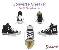 Seit vielen Jahrzehnten ist der Converse Sneaker einer der beliebtesten Schuhe überhaupt. In welcher Farbe tragt Ihr ihn am liebsten? #ConverseSneaker