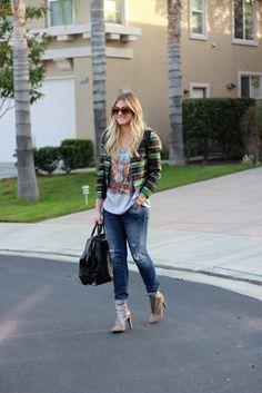 | Shirt: Topshop | Jacket: H | Jeans: Gap | Heels: Rebecca Minkoff | Bag: Alexander Wang | Necklace: Jennifer Zeuner c/o | Watch: Michael Kors | Bracelet: David Yurman |