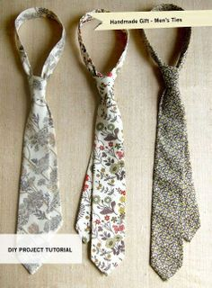 diy tie pattern