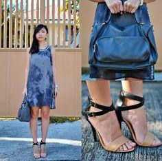 Forever 21 Grey Dye Dress, Forever 21 Grey Bag, Forever 21 Philippines Heels