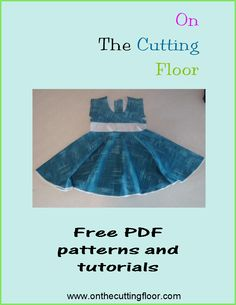 FREE dress pattern for girls 1 to 8 years.  Check this website!