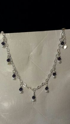 Dk purple crystal / sterling bracelet
