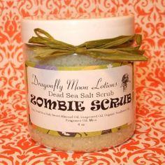 Zombie Scrub - Dead Sea Salt Body Scrub - 4oz. Starting at $5 on Tophatter.com!