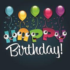 Happy birthday balloons of greeting card vector 02