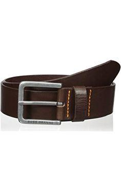 BOSS Orange Men's Jeeky_Sz40_Item, Brown, 44 ❤ Hugo Boss Men's Belts and Wallets